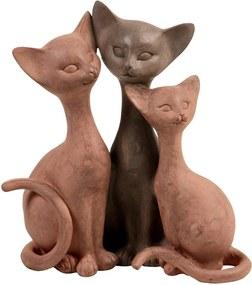 Estatueta Trio de Gatos