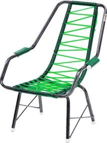 Cadeira De Fio Infantil Eletrostático Plus Verde Fabone Móveis