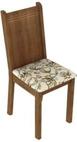Kit 6 Cadeiras 4290 Madesa Rustic/Lírio Bege