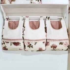 Porta Treco De Parede Padroeira Baby Flower - Palha