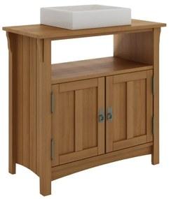 Balcão para Banheiro Mission com 2 Portas e Nicho Jatobá (Cuba não acompanha o produto)- Wood Prime MR 34672