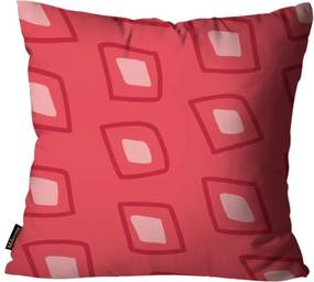 Almofada Mdecore Natal Geométrica Vermelha 45x45cm
