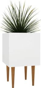 Cachepot Box Branco E Estilare Móveis
