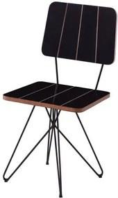 Cadeira Costinha Preta com Base Estrela Preta - 49556 Sun House