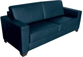 Sofá 3 Lugares Sala de Estar 205cm Estocolmo Couro Azul - Gran Belo