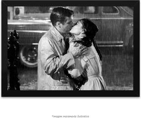 Poster Audrey Hepburn E George Peppard (40x60cm, com Painel)