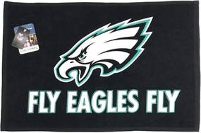 Toalha Torcedor NFL Fan 38x63cm Philadelphia Eagles Preto,