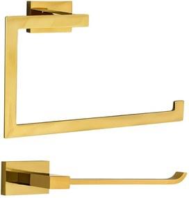Kit de Acessórios para Lavabo Top (Mondrian Dourado)