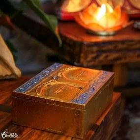 Caixa Decorativa Gold Olhos de Buda
