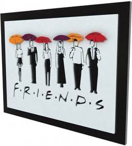 Quadro 3D Seriado Friends Personagens