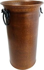 Porta Guarda-Chuva Decorativo em Metal e Cobre 48 cm x 27 cm