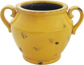 Cachepot em Cerâmica Amarelo - 21x31cm