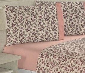 Roupa de Cama Casal Padrão Suprema 180 Fios 04 Peças - Floral Rosê