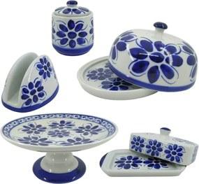 Kit para Café da Manhã em Porcelana Azul Colonial 5 peças