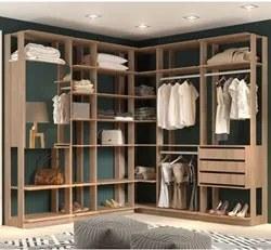 Quarto Modulado Closet Clothes 6 Módulos Carvalho Mel - BE Mobiliário