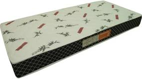 Colchão Espuma Confortex D33 Solteiro 78x188x14 Branco / Preto Plumatex