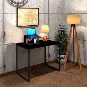 Mesa Para Escritório Diretor Estilo Industrial Vintage | Tam: 80x60|Cor: Preto