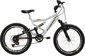 Bicicleta Full FA240 6V Aro 20 Branco - Mormaii