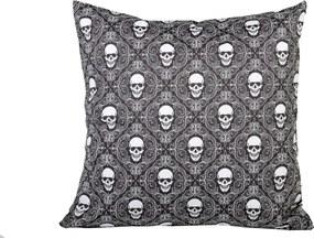 Capa Almofada Stooge Skull Pattern Preto