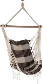 Rede Cadeira Redes de Dormir Mesclada Bege com Marrom