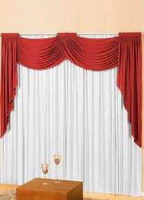 Cortina para Porta com Bandô Vermelha 360x230 cm