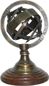 globo MUNDO metal e madeira 13cm Ilunato PMI0011
