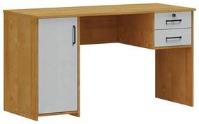 Escrivaninha 1 Porta 2 Gavetas Mirabell Carvalho e Cinza - NS 47079
