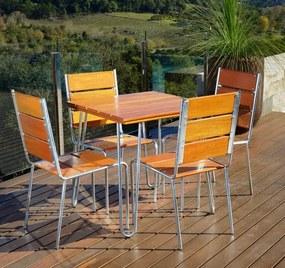 Conjunto Mesa e Cadeiras Eucalipto CJM74 - Móveis Pressa