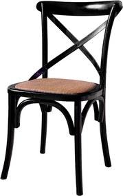 Cadeira de Jantar X Espanha com Rattan - Wood Prime TT 33253