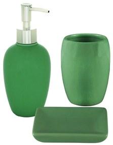 Jogo Para Banheiro Cerâmica 3 Peças Verde 61045 Royal