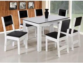 Conjunto de Mesa Milena Retangular 4 Cadeiras São Carlos
