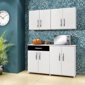 Cozinha Conjugada 3 Peças Delta Arte Móveis Branco