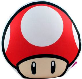 Almofada Formato Cogumelo Vermelho Super Mario FBA