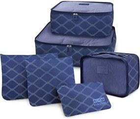 Organizador Jacki Design De Bagagem Mala Viagem Kit 6 Peças Azul - 19808