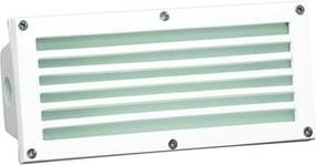 Balizador Embutir Aluminio Vidro Branco Ip65