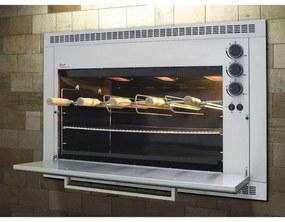 Churrasqueira Gourmet A Gás Fischer RANCH 5 Espetos BIVOLT Inox Escovado