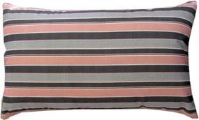 Capa almofada LYON Veludo estampado listras Rosa 30x50cm
