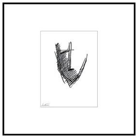 Quadro Decorativo Figurativo Aquarela Persona 2 Preto e Branco - CZ 44087