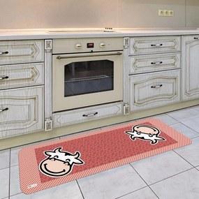 Tapete de Cozinha Mdecore Vaquinha Vermelho40x120cm