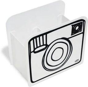Porta-Lápis Câmera Branco - Geguton
