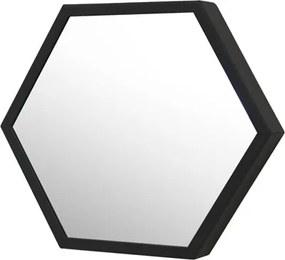 Espelho Decorativo Preto Ø35 Cm Hexagonal Jules