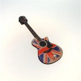 Cabideiro Personalizado Formato Guitarra Bandeira Inglaterra