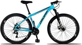 Bicicleta Aro 29 Quadro 21 Alumínio 21 Marchas Freio a Disco Mecânico Azul - Dropp