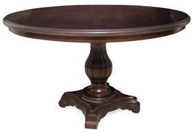 Mesa de Jantar Antique Redonda Madeira Maciça Cor Imbuia Design Clássico