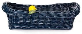 Cesta de Pães Vime Limão Siciliano - Azul Marinho  Azul Marinho