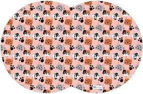 Tapete PET Gatos Colorido 55x35cm