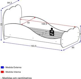 Mini Cama Nuvem Cinza 2667.160 Multimóveis