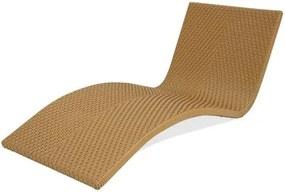 Espreguicadeira Moraga Estrutura Aluminio Revestido em Fibra Sintetica cor Bege Madrid - 44576 Sun House