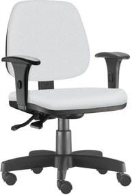 Cadeira Giratória Executiva Lym Decor Job Corino Branco