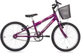 Bicicleta Kiss Aro 20 Monovelocidade com Cesta Free Action